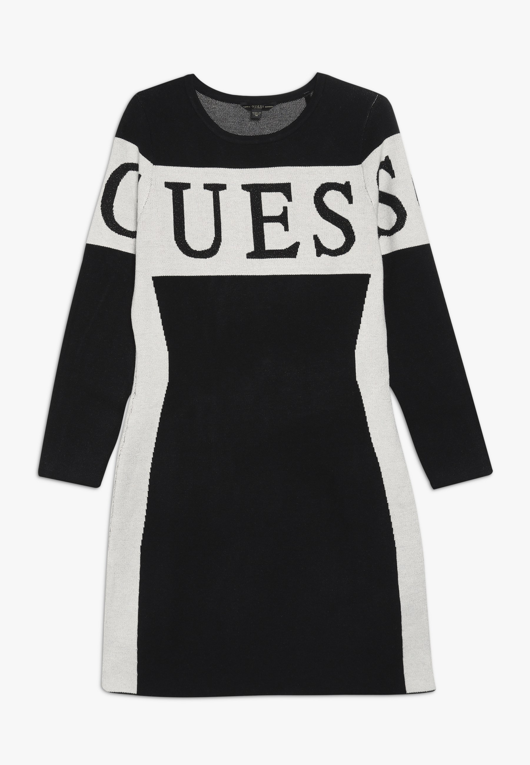 Guess JUNIOR DRESS Stickad klänning jet black Zalando.se
