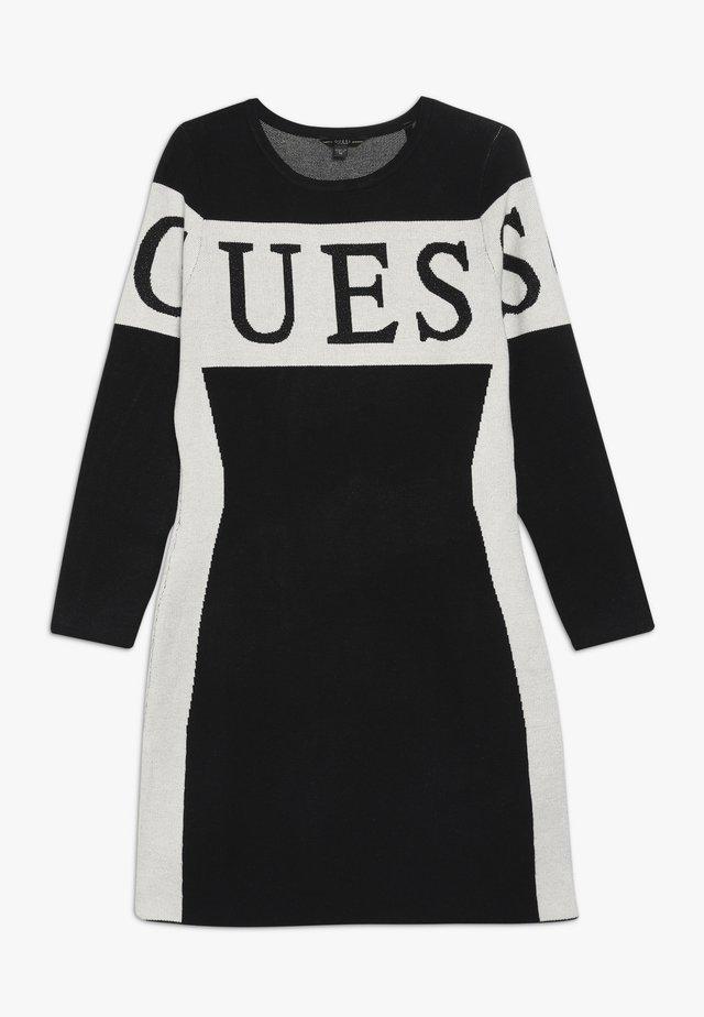 JUNIOR DRESS - Strikket kjole - jet black