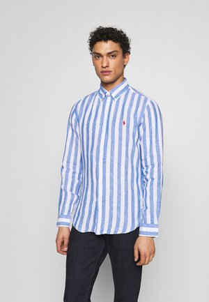 STRIPE SLIM FIT - Shirt - blue/white