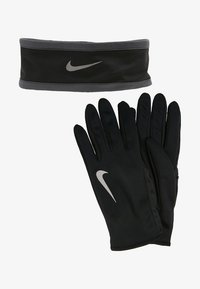 Nike Performance - RUN DRY HEADBAND AND GLOVE SET - Guantes - black/anthracite/silver - 4