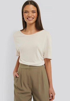 Basic T-shirt - dusty light beige