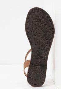 TOM TAILOR - T-bar sandals - cognac - 6
