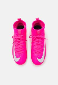 Nike Performance - JR MERCURIAL 7 ACADEMY MG MBAPPÉ - Moulded stud football boots - pink blast/white/black - 3
