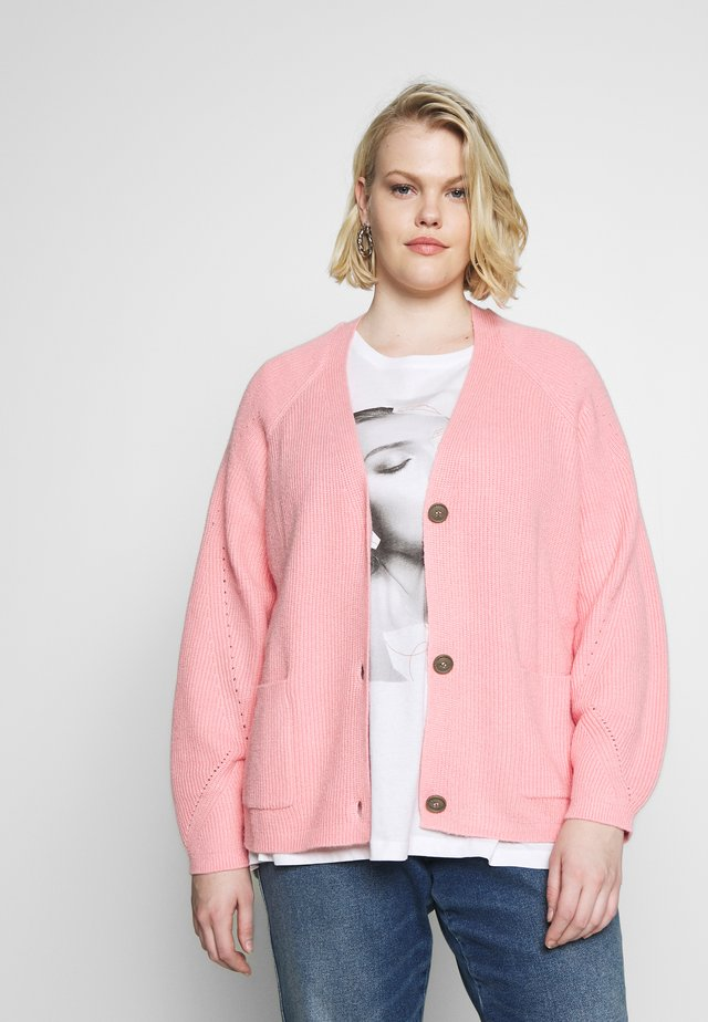 CARDIGAN SHORT RAGLAN - Gilet - bubble gum pink