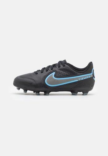 JR TIEMPO LEGEND 9 ACADEMY FG/MG UNISEX - Moulded stud football boots - black/iron grey