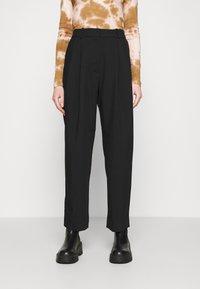 Weekday - ZINC TROUSER - Trousers - black - 0