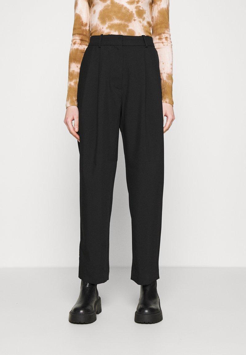 Weekday - ZINC TROUSER - Trousers - black