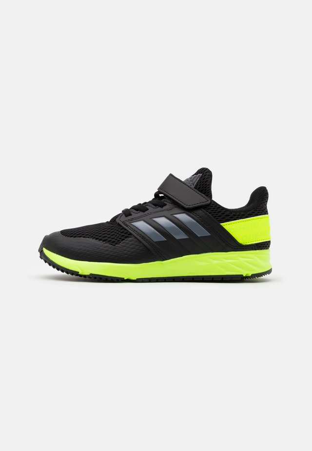 FORTAFAITO KIDS NEXT SPORTS RUNNING SHOES - Obuwie do biegania treningowe - core black/grey four/signal green