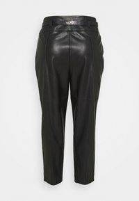 River Island Plus - CIGARETTE CHAIN BELT PANT - Trousers - black - 1