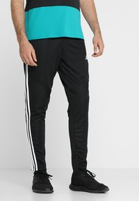adidas Performance - TIRO AEROREADY CLIMACOOL FOOTBALL PANTS - Tracksuit bottoms - black/white - 0