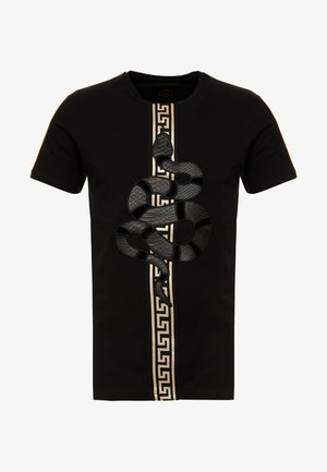 DEVANEY - T-shirts med print - black