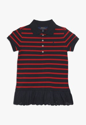 STRIPE - Polo shirt - hunter navy/red