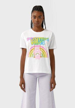 GLÜCKSBÄRCHIS  - T-Shirt print - white