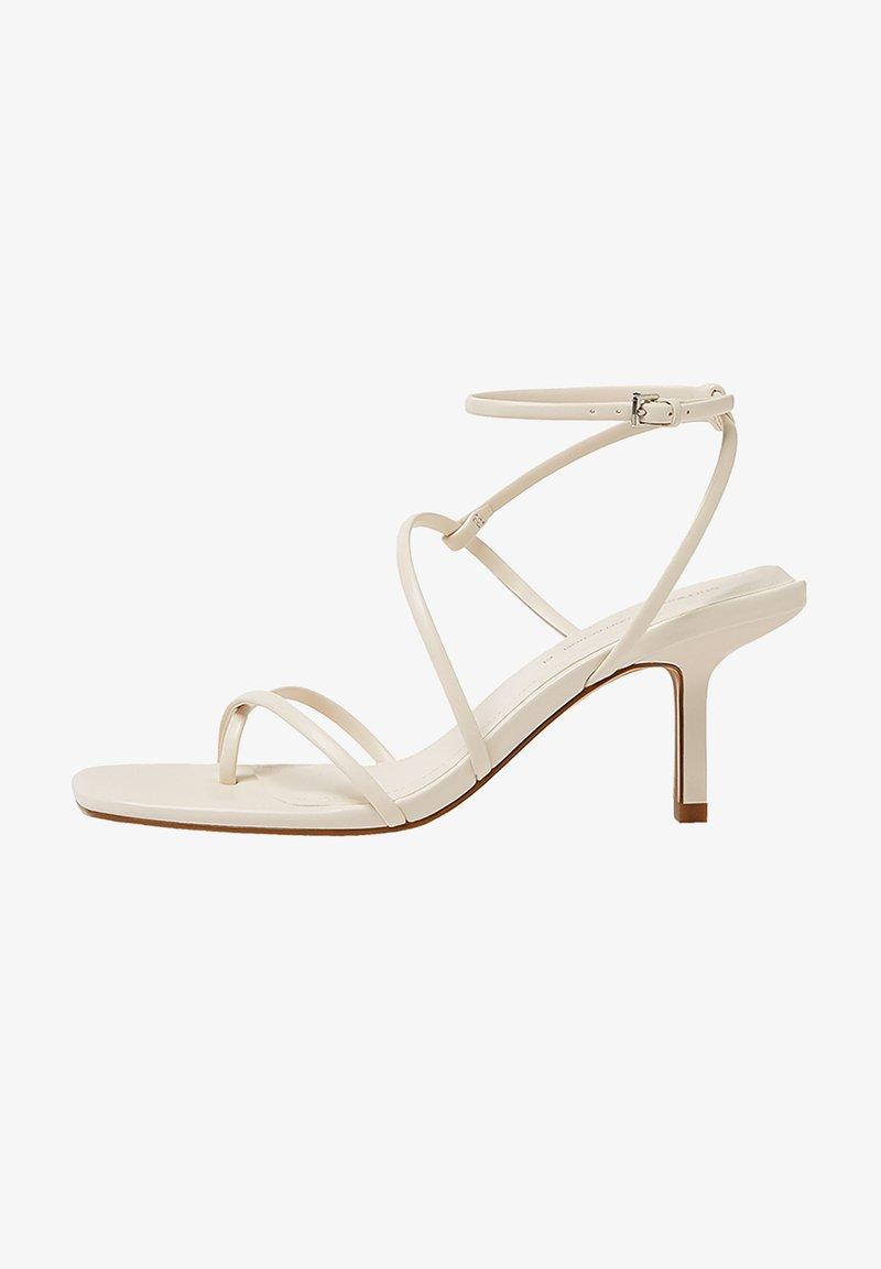 PULL&BEAR - Sandály na vysokém podpatku - beige