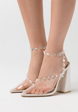 RUHANA - High heels - clear/white