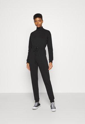 ROLL NECK DROP SHOULDER - Jumpsuit - black