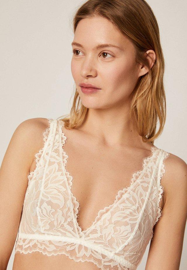 MIT FLORALER SPITZE - Triangle bra - white