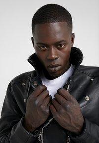Bruuns Bazaar - FELIX JACKET - Leather jacket - black - 4