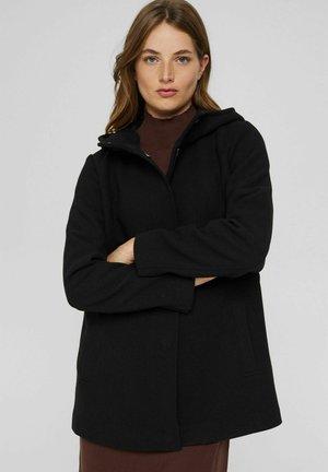 REGULAR FIT - Halflange jas - black