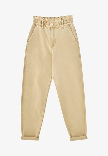 PAPERBAG - Relaxed fit jeans - beige