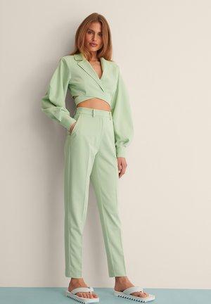 STRAIGHT SUIT PANTS - Broek - dusty green