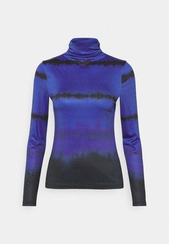 RUCHED TURTLENECK - Long sleeved top - blue