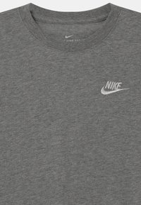Nike Sportswear - FUTURA UNISEX - Long sleeved top - dark grey heather/white - 2