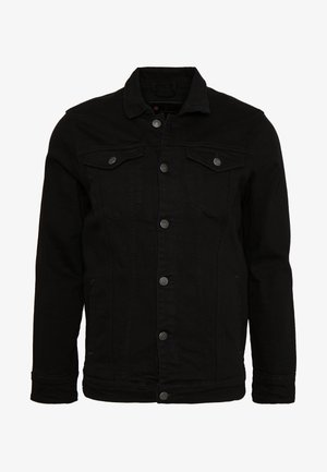 KASH JACKET - Jeansjacke - black dot