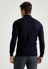 DeFacto - Stickad tröja - navy - 1