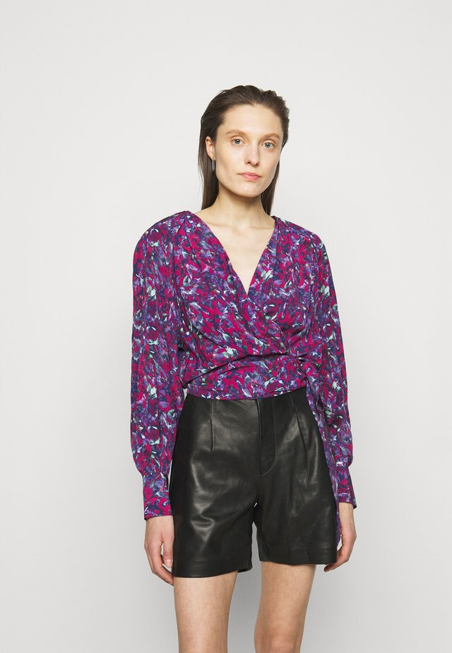 AZZA WRAP BLOUSE - Blůza - multico ruby