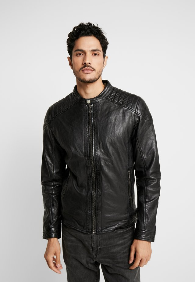 BLUERACY - Kožená bunda - black