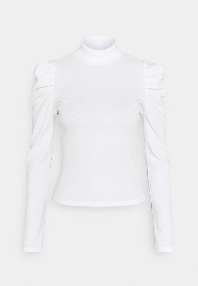 RONJA - Topper langermet - white light solid