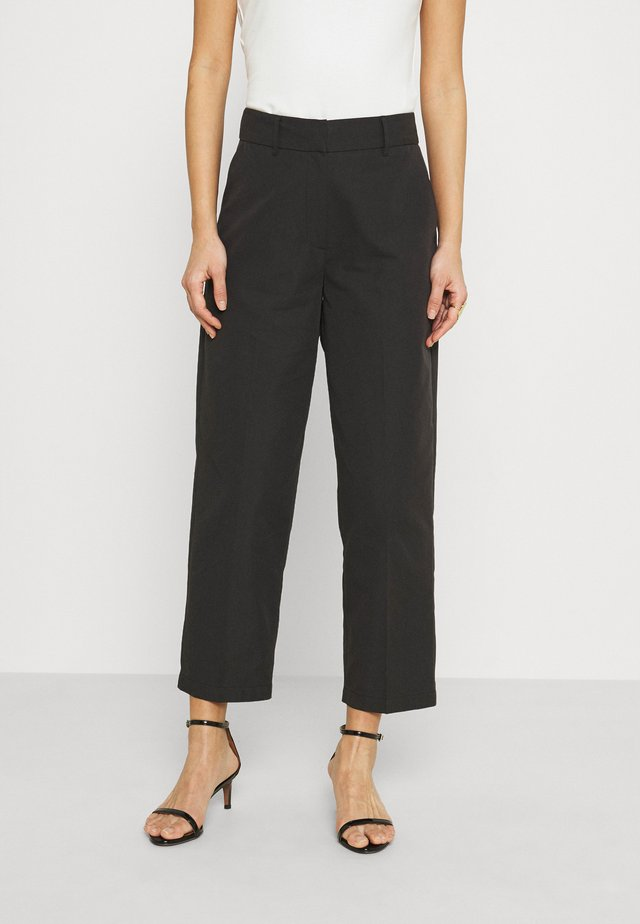 ALLY - Trousers - black