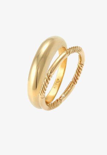2 PACK BASIC - Ring - gold
