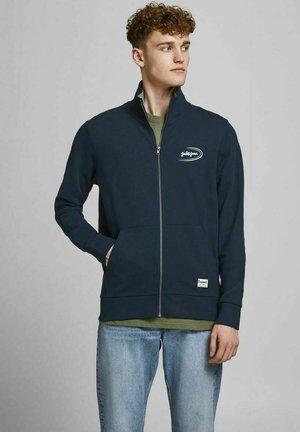 Zip-up hoodie - mottled dark blue, dark blue