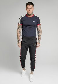 SIKSILK - PREMIUM RINGER GYM TEE - T-shirt con stampa - navy - 0