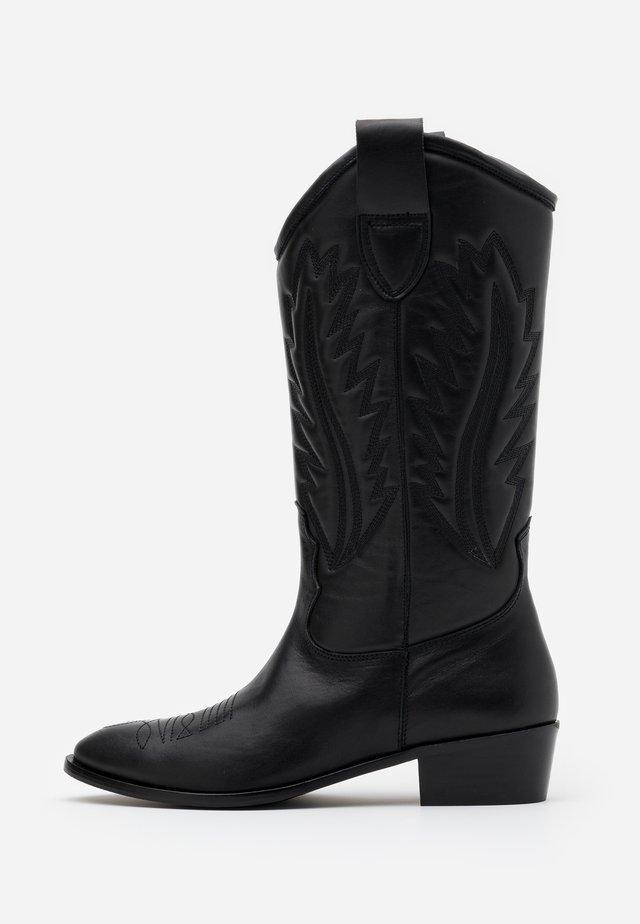 MARIA LISO - Kowbojki i obuwie motocyklowe - black