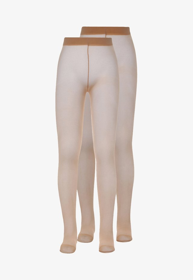 2 PACK - Tights - perle