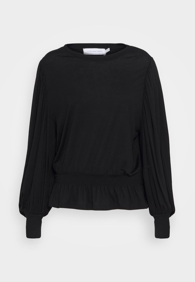 SIALINA BLOUSE - Bluser - pitch black