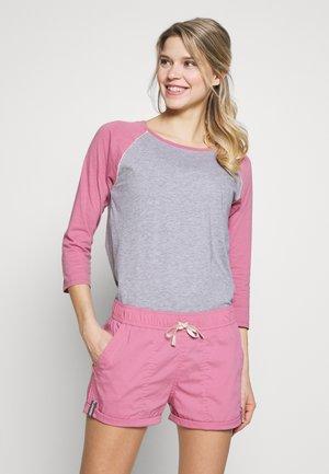 CARATUNK RAGLAN - Long sleeved top - gray heather/rosebud