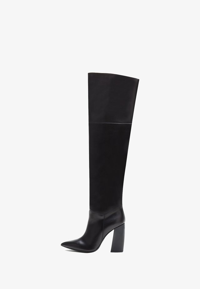 Over-the-knee boots - schwarz