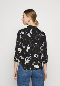 Monki - HELLA BLOUSE - Button-down blouse - black - 2