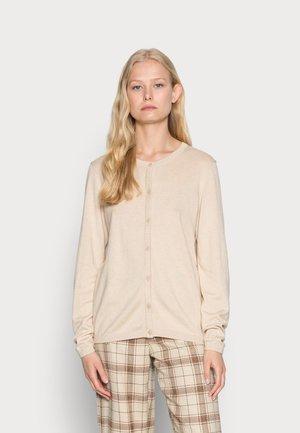 CORE ROUND NECK CARDIGAN - Cardigan - beige