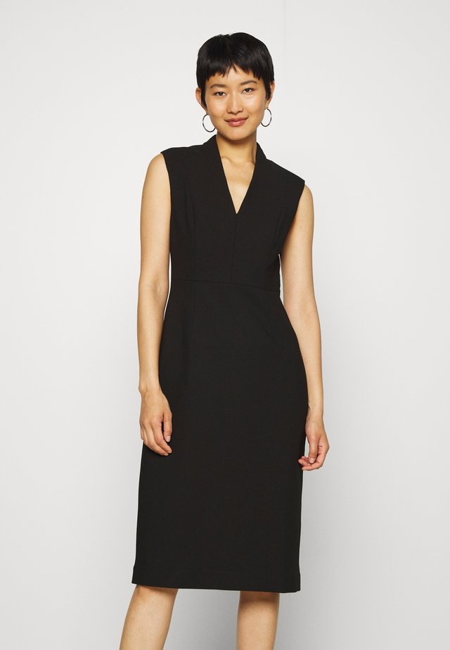 HIGH COLLAR DRESS - Pouzdrové šaty - black