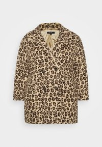 ANIMAL PRINT COAT - Winter coat - brown