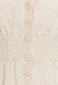 Who What Wear - WAISTED CARDIGAN - Cardigan - cream marl - 2