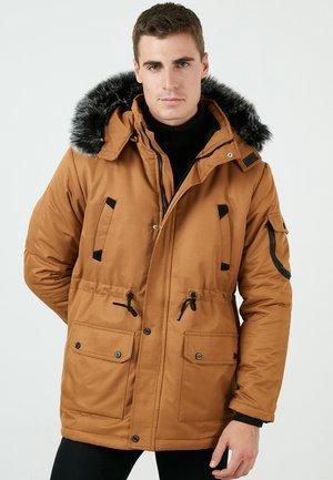 REMOVABLE - Winter coat - snuff colored