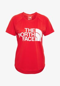 The North Face - WOMENS GRAPHIC PLAY HARD  - T-shirts med print - fiery red - 3
