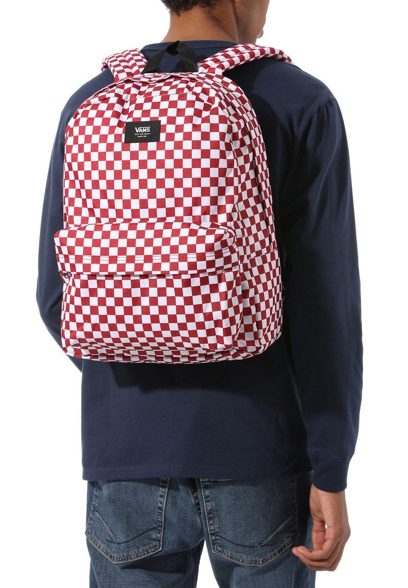 Vans - UA OLD SKOOL III BACKPACK - Rucksack - chili pepper checkerboard