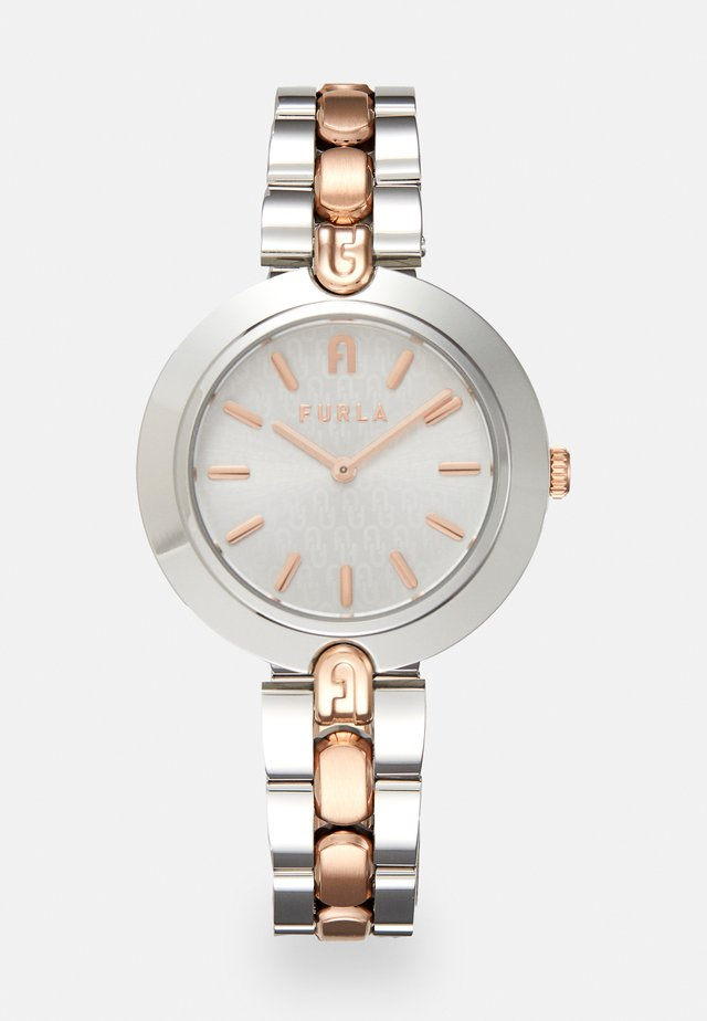 FURLA LOGO LINKS - Watch - silver-coloured/rosegold-coloured
